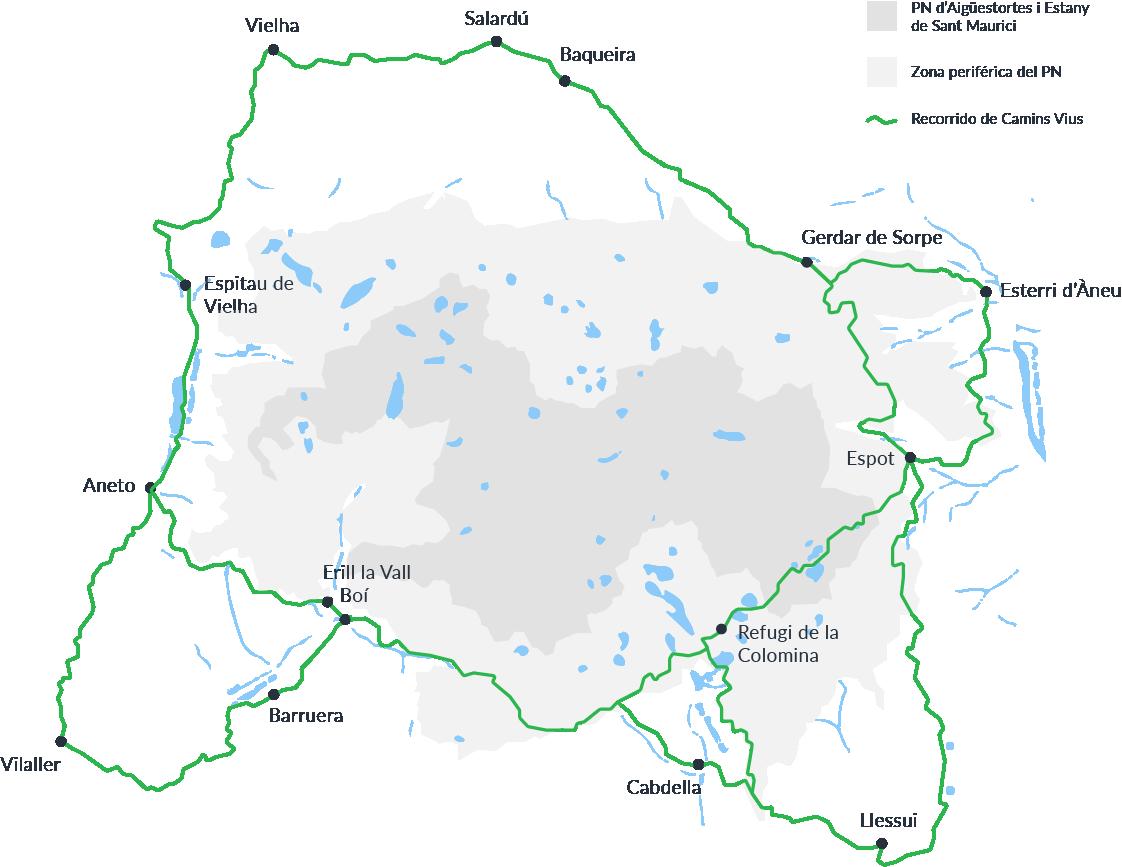 Mapa senderismo Camins Vius